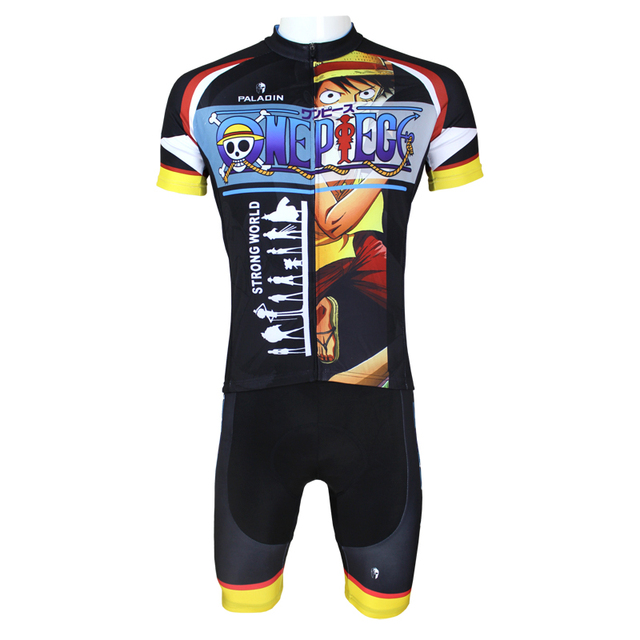 74ad2339f Anime One Piece Monkey D Luffy Cycling Jersey Men Cycling Equipment Cycling  Sets X068