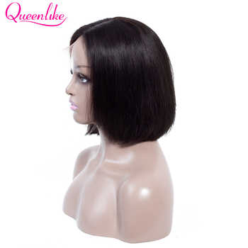 Queenlike Lace Frontal Bob Wig With Pre Plucked Hairline Brazilian Remy Hair For Black Women Short Lace Frontal Human Hair Wigs - DISCOUNT ITEM  33% OFF All Category