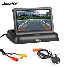 Jansite 4,3 дюймов автомобильные мониторы TFT lcd монитор заднего вида для парковки система заднего вида для резервного копирования камера заднего вида Поддержка DVD