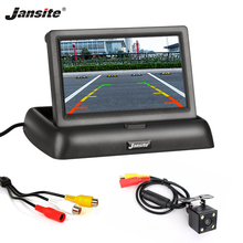 Jansite 4.3inch Car Monitors TFT LCD Car Rear View monitor Display Parking Rearview System For Backup Reverse Camera Support DVD цены онлайн