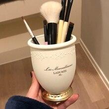 Высокая класс выбивает Органайзер кисточек для макияжа для косметики пластик коробка рабочего стола Хранение продуктов трубки