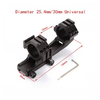1 montura de alcance de 25,4mm 30mm doble anillo voladizo de alta resistencia Picatinnywith 20mm negro