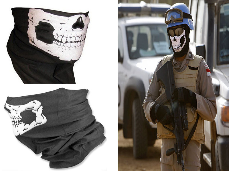 2016 NEW CS Cosplay Ghost Skull Black Face Mask Cap Motorcycle Biker Multi functional Skeleton Hat Scarf Balaclava 2017 new full face cover mask three 3 hole balaclava knit hat winter stretch snow mask beanie hat cap new black warm face masks