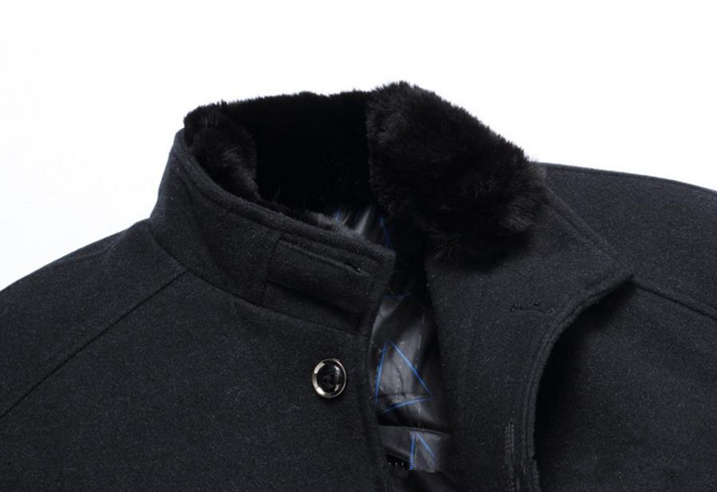2018 new high-grade autumn and winter mens coat business casual single-breasted mens jacket Wool coat Overcoat Solid color