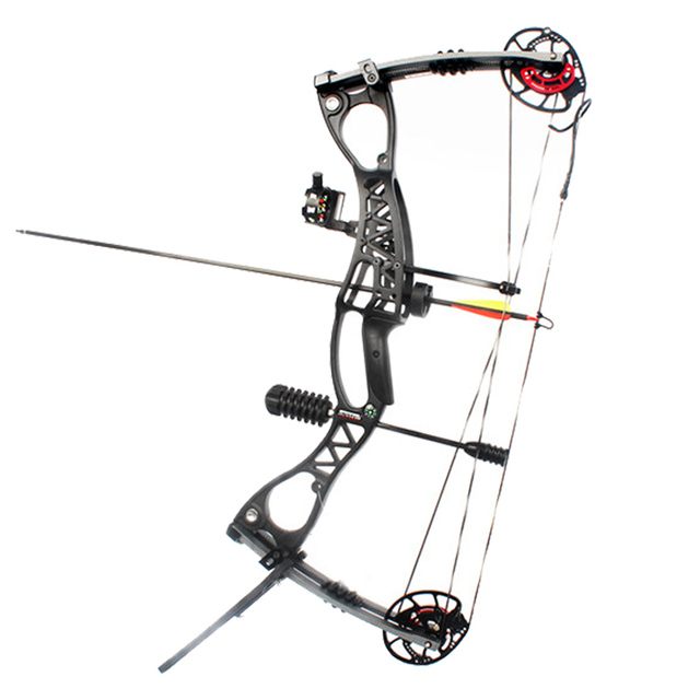 40-70lbs 34inch Archery JUNXING M122 Compound Bow Set 330FPS 70-80% Labor Saving With Bow Stabilizer Sight Release For Hunting