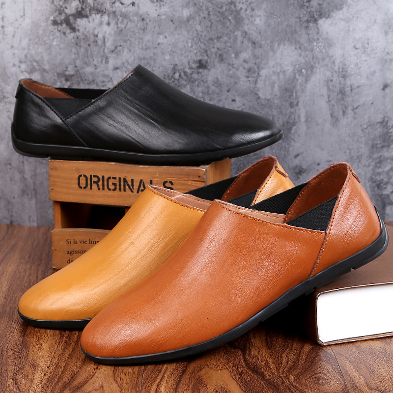 Handmade Genuine Leather Men's Flats Casual Haap Sun Brand Men Loafers Comfortable Soft Driving Shoes Slip On Leather Moccasins handmade genuine leather men s flats casual haap sun brand men loafers comfortable soft driving shoes slip on leather moccasins