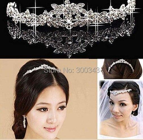 12pcs/lot elegant Wedding Bridal party Jewelry crystal Tiara headpiece headdress hair accessories wh016h