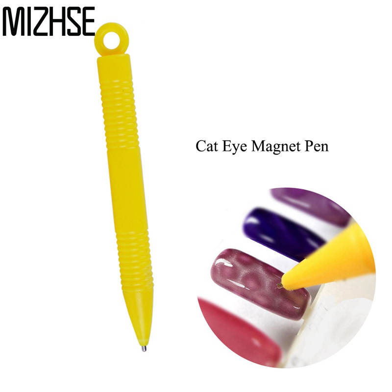 MIZHSE 3D Magnet Stick Cat Eye Magnetic Pen for Nails Drawing Nail Art Tool Manicure DIY Tools Cat Eye Effect Nail Gel Polish recette merveilleuse ultra eye contour gel by stendhal for women 0 5 oz gel
