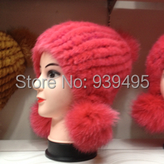 Wholesale fashion lady winter mink fur hat  real Thick warm cap real fur hat