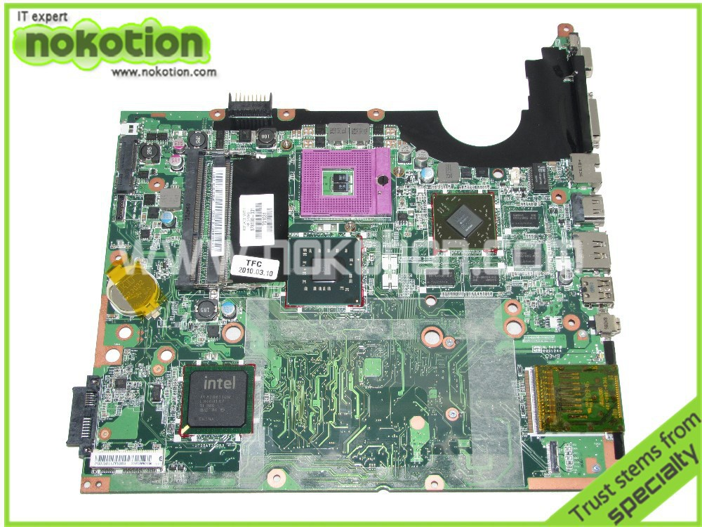NOKOTION Laptop motherboard For hp pavilion DV7 578130-001 Mainboard Graphics Card DDR3 High quality Mother Boards nokotion 650199 001 laptop motherboard for hp pavilion g4 g7 hm65 mobility radeon hd ddr3 mainboard mother boards