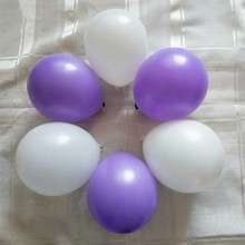 Small balloon 100pcs/lot5 inch 1.2g round latex purple balloons happy birthday air globos mariage decoration kids party supplies