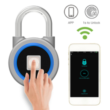 Aimitek Bluetooth Fingerprint Padlock APP Control Smart Lock Keyless Anti Theft Door Cabinet Lock For iOS Android USB Charging