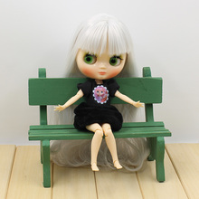 Factory Blyth Doll Middle Blyth Desnuda Largo Pelo Gris Cuerpo Articulado, Nude Doll Middle Blyth Long Gray Hair Joint Body