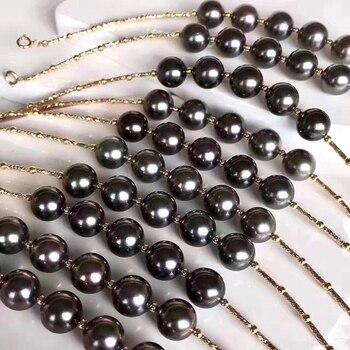 Sinya Natural tahitian pearls 18k gold bracelet for women girl Mom girl lover length 16+2cm can adjustable pearl diameter 8-9cm 3