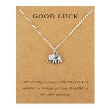 c35266327391 Elefante buena suerte herradura colgantes collares Wishbone aves infinito  Cadena de plata mujeres hombres Unisex joyería de moda