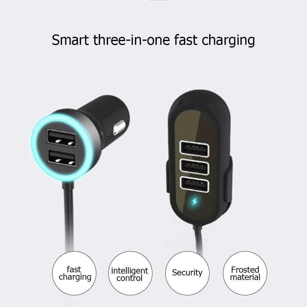 Q8T 5.8A универсальное переднее/заднее сиденье автомобильное зарядное устройство 5 USB адаптер для быстрой зарядки мобильного телефона подходит для нескольких зарядных устройств
