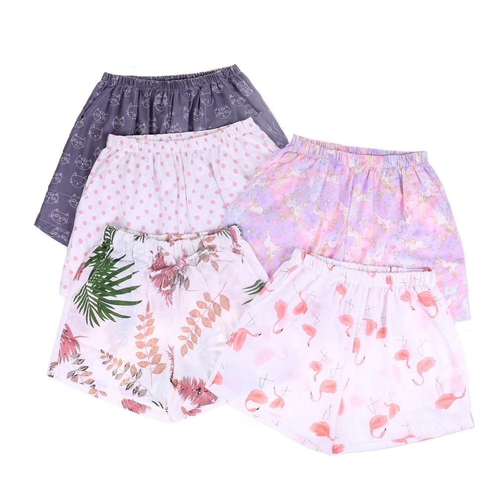 UNIKIWI. Милые летние хлопковые Пижамные шорты для сна, женские свободные пижамные штаны с эластичной резинкой на талии размера плюс M-XL отдыха. 21 цвет