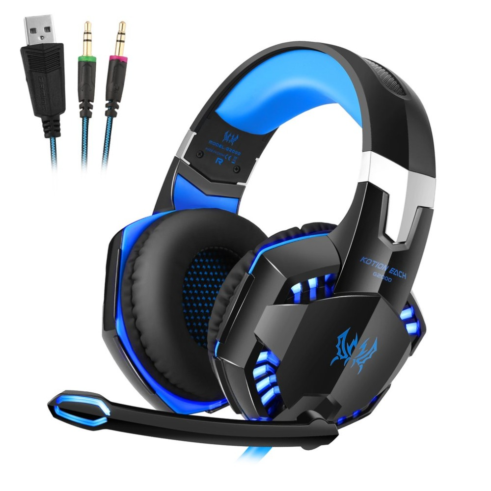 Over-ear Game Gaming Headphone Headset Earphone Headband for EACH G2000 with Mic Stereo Bass Noise Cancelling