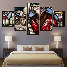 5 Piece HD Printed christ christian christianity  Painting Canvas Print Room Decor Poster Picture panelCanvas Art
