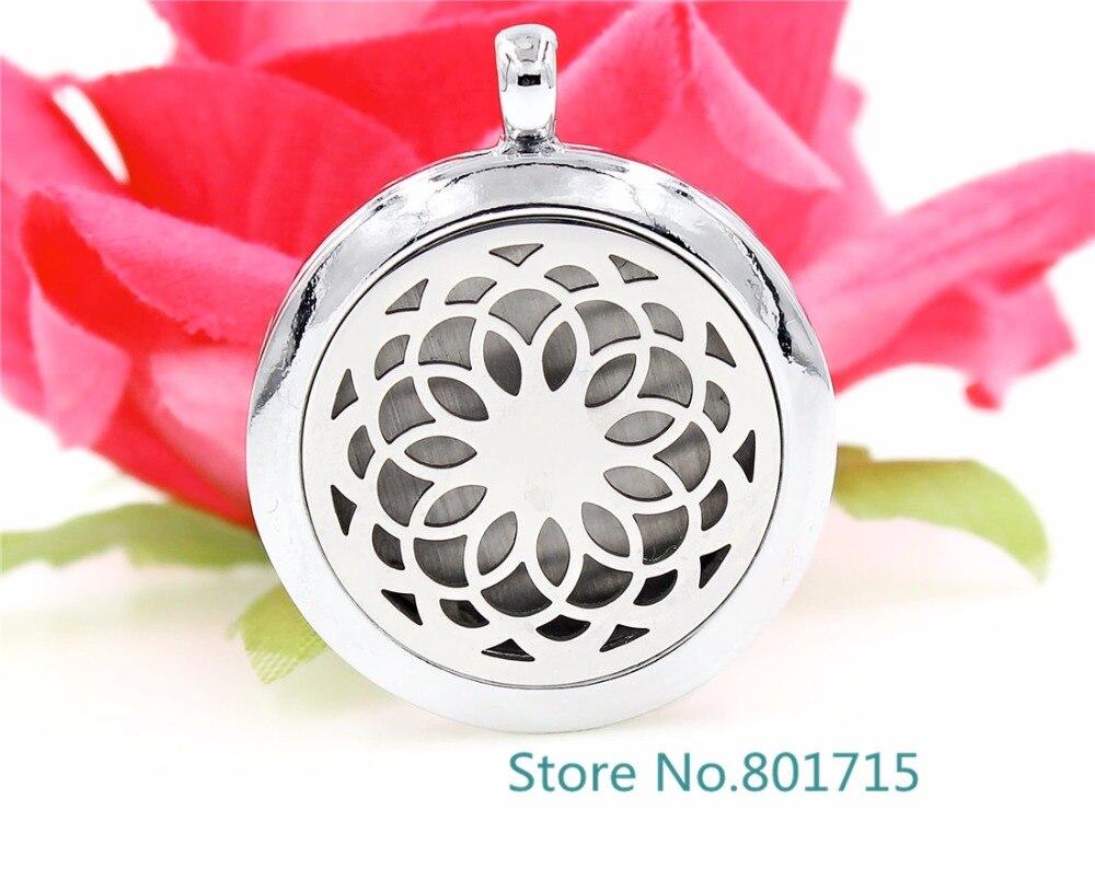 cc7160268bd0 Ventas calientes flor Plain aromaterapia perfume esencial difusor Locket  como regalos para familiares o amigos XX124