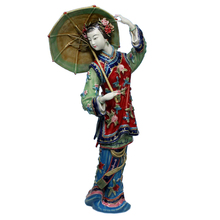 New Antique Chinese Ceramic Statue of Wanzhong Female Figurine Sculpture Arts Collectible Crafts Porcelain for Christmas Gifts