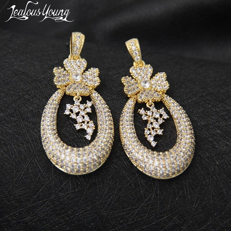 New Fashion Flower Big Circle Drop Earrings Charm Party Fashion Jewelry Sweet Style Pendant Earings For Women Oorbellen AE145