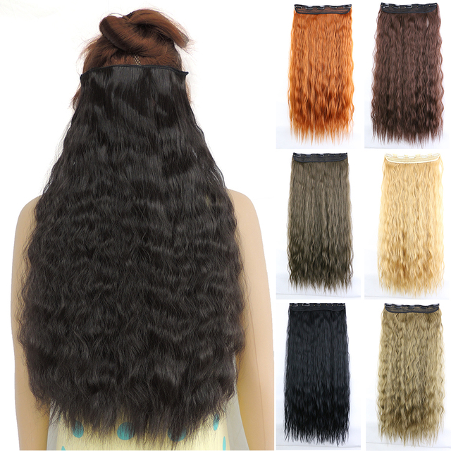 Mega Hair Extensions Cosplay Kinky Curly 5 Clip In Extension