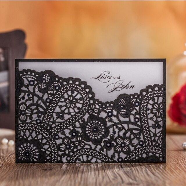 CW5259 Arabisch Laser Cut Schwarz Hochzeit Einladung Verschiffen Frei  Druckbare U0026 Kundenspezifische Gruß/geburtstagskarte