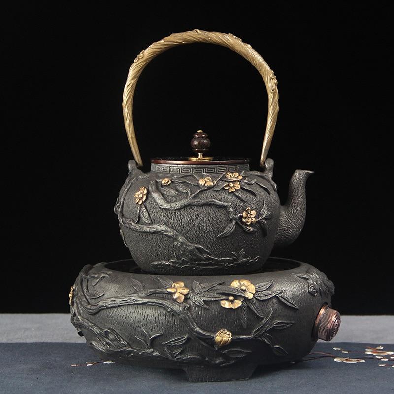 Cast Iron Teapot Electric Ceramic Stove Factory Direct Wholesale Kung Fu Tea Set Electric Tea Stove High-end Craft Gift