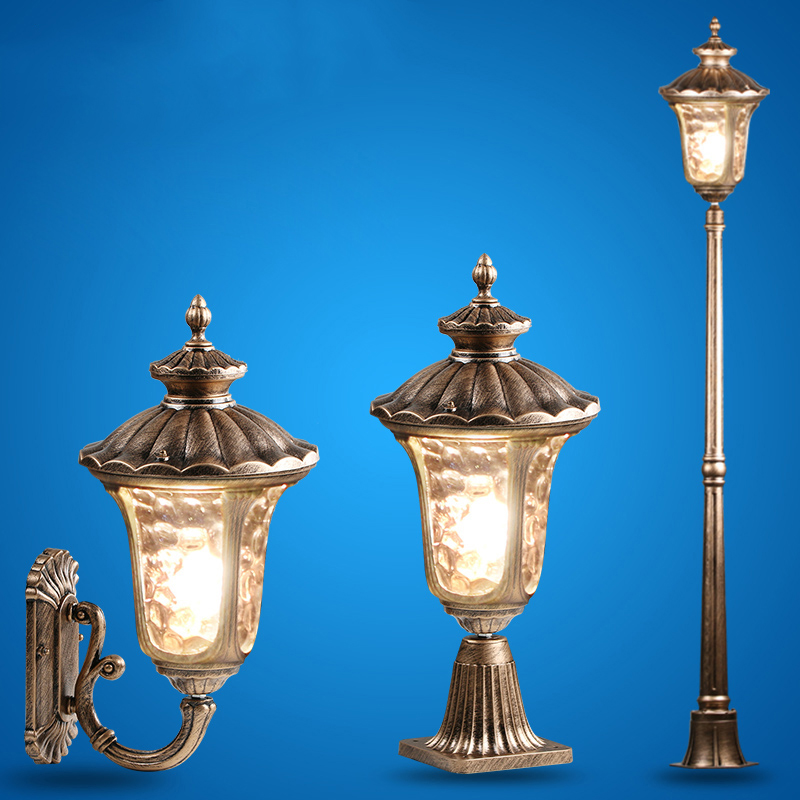 Led Outdoor Wall Lamps Strict Villa Column Lamp European Outdoor Wall Head Post Lamp Outdoor Waterproof Wall Courtyard Lawn Lighting Special Summer Sale