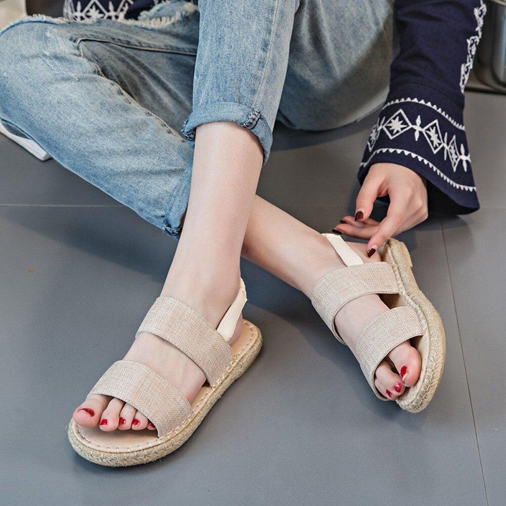 vert Confort Flops Élastique Gladiateur Sandalias De Mode D'été Flip Sandales Plat Chaussures Beige Femmes Haute Qualité Bande Fwg5x0qanA