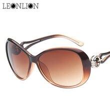 LeonLion 2021 classique dégradé lunettes De soleil femmes marque concepteur Vintage surdimensionné lunettes De soleil UV400 Oculos De Sol Feminino