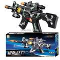 Chidlren Vocalización luz pistolas de juguete Eléctrico Pistola de Tiro Militar/Camuflaje pistola de balas/rotatorio eléctrico