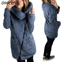 OHRYIYIE Plus Size 5XL Thick Jacket Women 2018 New Spring Autumn Zipper Outerwear Loose Basic Jackets