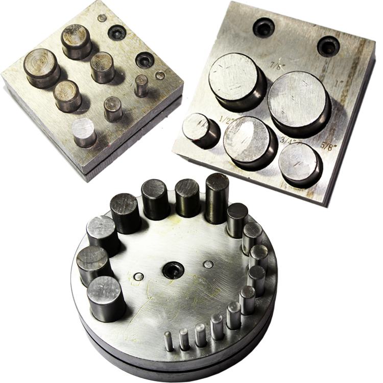 Jewelers Disc Cutter 7 Hole  5 Hole Punch Set Metal Circle Cutting Punching Jeweler Tools Goldsmith Punching Die