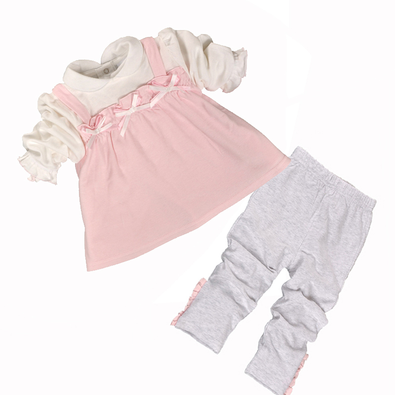 2018 New Fashion Baby Girl Clothes Sets Infant Clothing Set Baby Girl Birthday Dresses Set Baby Clothes Leggings Cotton Print material girl new black animal print leggings msrp $22 5 dbfl