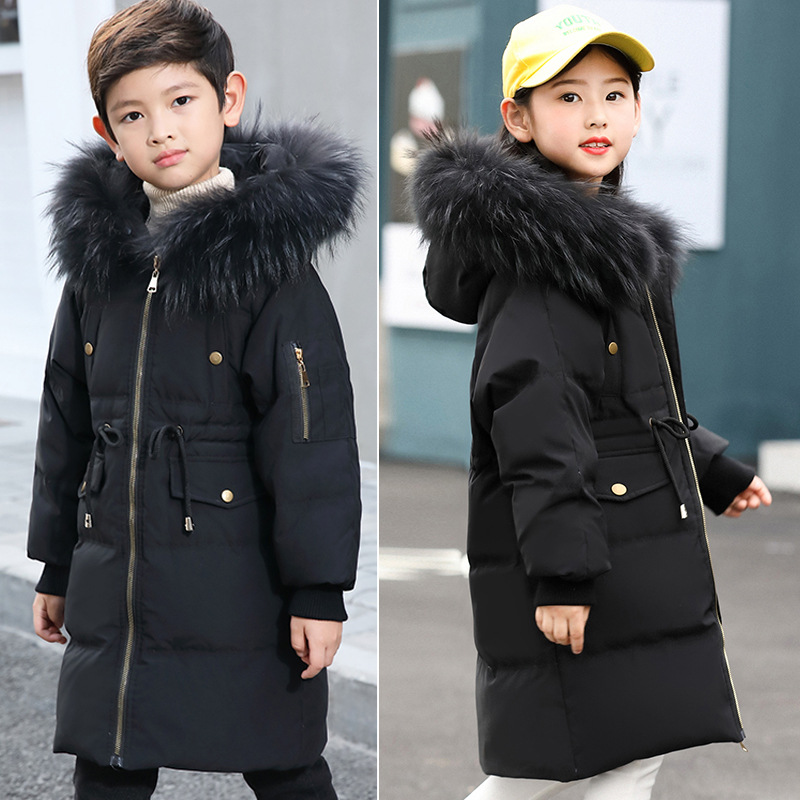 New Winter Girls/Boys Down Jackets Baby Kids Long Sections Down Coats Thick Duck Down Warm Jacket Children Outerwears -30degree winter brand 2017 new men down jacket coats long coats dress jackets western style overcoats thick warm duck down parkas