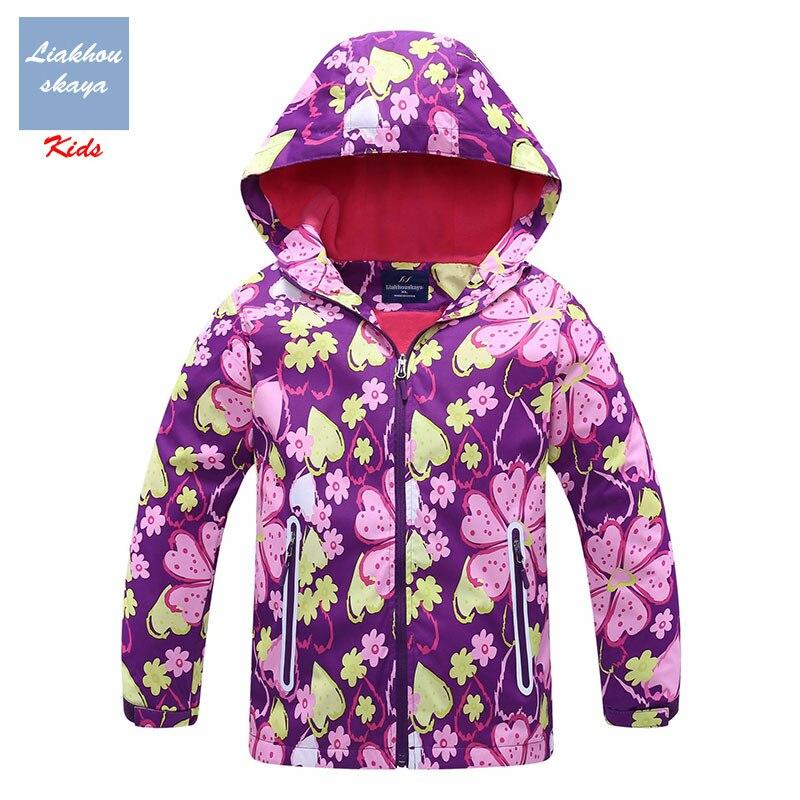 Liakhouskaya 2019 New Jacket For Girls Children Spring Double-deck Water Proof Teenage Kids Warm Coat Polar Fleece Hoodies 4-13Y