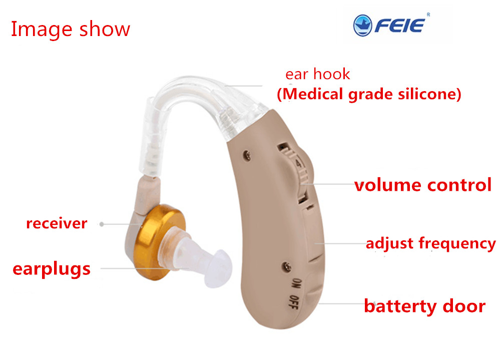 S-288 Battery-powered Hearing Aid With Beige Paypal Accepted Stores Free Shipping