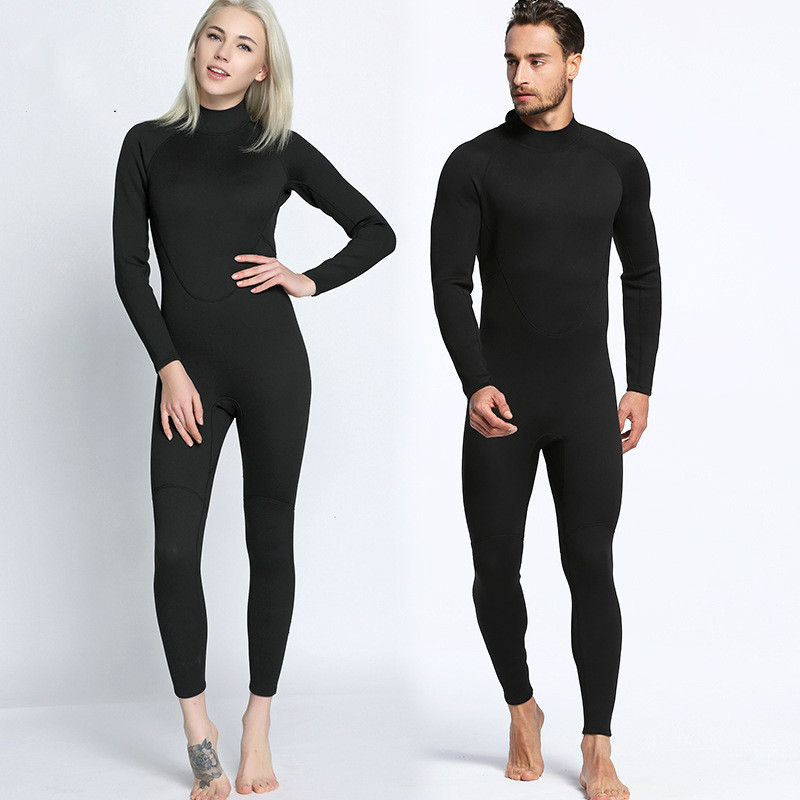 2MM Black Wetsuit Siamese Surf Clothing Anti Cold Waterproof Outdoor Beach Swimsuit Diving Suit wetsuit for
