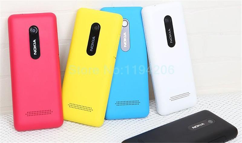 new smart phone Nokia 206 2060 2G GSM 1.3MP 1100mAh Unlocked Cheap Celluar Phone dual sim card blue 7