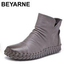2a136f3f513 Moda Otoño Invierno Zapatos mujeres Botas Femenina Chaussures Zapatos Mujer  tobillo Botas Zapatos de cuero genuino
