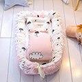 Bebé estereotipos recién nacido Anti vuelco colchón cama portátil cuna almohada extraíble lavable aislamiento cama