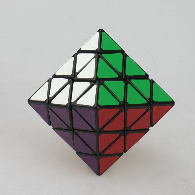 Lanlan cubos mágicos refrentar octaedro 8 ejes Puzzle de bloques cubos de velocidad de aprendizaje y juguetes educativos Cubo de juguete para los niños