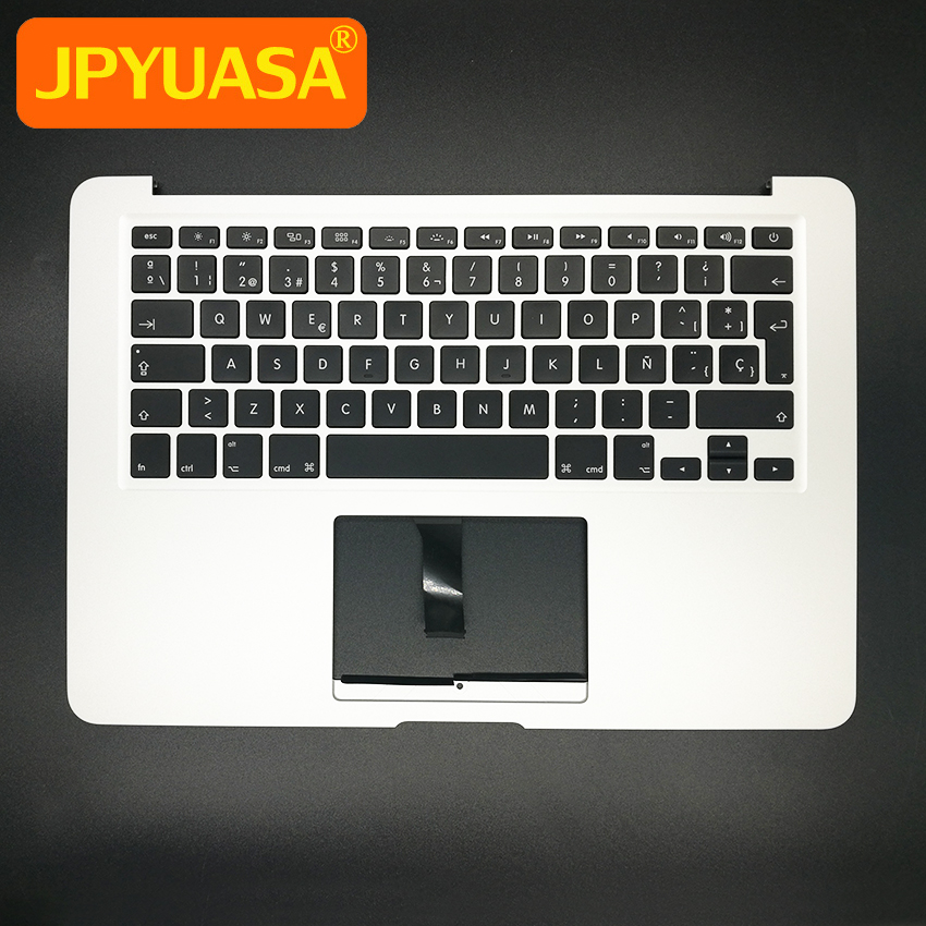 New Top Case Palm Rest with SP Spain Keyboard For MacBook Air 13 A1466 Spanish TopCase with keyboard 2013 2014 2015 new for macbook air 13 topcase upper top case palmrest with tr turkey keyboard a1466 2013 2014 2015