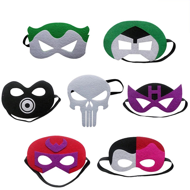 1PC Super Heo Mask Magnelo Joker Two Face Doctor Doom Star Wars Christmas Costumes Cosplay Mask Kids Birthday Party DIY Gift New