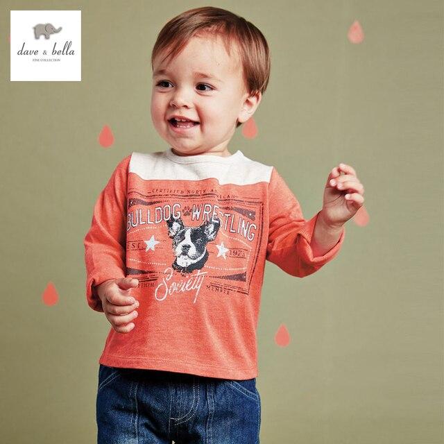 DB2293 дэйв белла осень 100% хлопок мальчиков майка детские Футболки детские одежда toddle топы