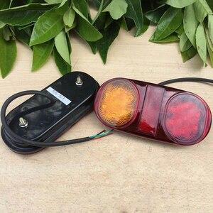 Image 4 - Amarillo + rojo luces traseras LED parada ABS impermeable indicador coche barco bombillas Trailer accesorios DC 10 30V