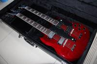 Wholesale double necks G 1275 Jimmy Page model electric guitar Wine Red Chrome Hardware price not inulude the case 121209