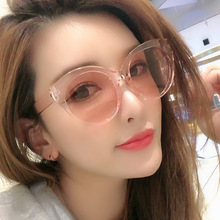 Sunglasses Women New Style Transparent Frame Color Solid Fashion Mens Retro Trend Round UV400
